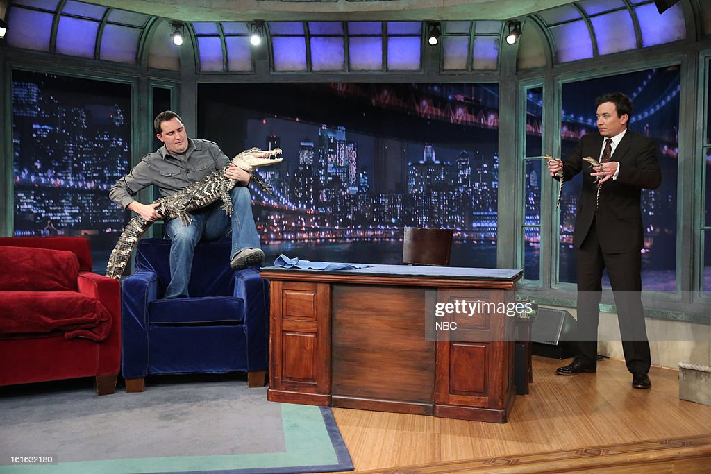 Jeff Musial with host Jimmy Fallon during an interview on February 13, 2013 --