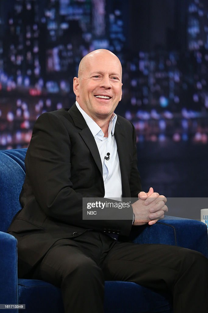 "NBC's ""Late Night with Jimmy Fallon"" With Guests Bruce Willis, Molly Shannon, Trinidad Jame$"
