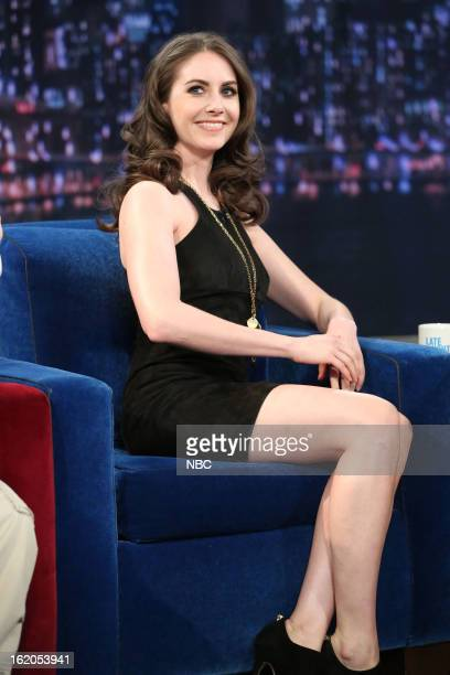 Alison Brie on February 18 2013