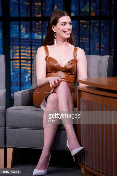Actress Anne Hathaway during an interview on January 23 2019