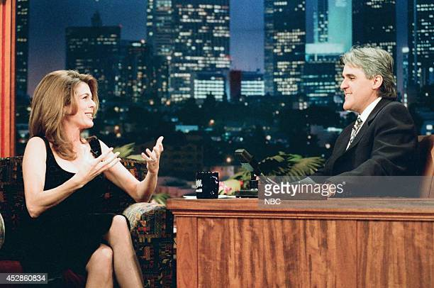 Actress Rita Wilson during an interview with host Jay Leno on October 23 1995