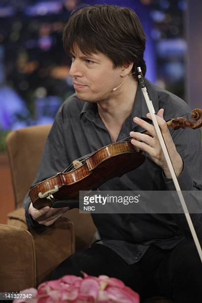 BRIEN Episode 79 Air Date Pictured Joshua Bell during an interview with host Conan O'Brien on October 02 2009 Photo by Paul Drinkwater/NBCU Photo Bank