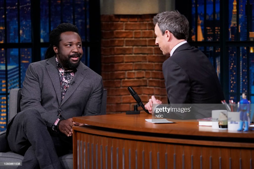 "NY: NBC'S ""Late Night With Seth Meyers"" With Guests Jake Tapper, Justina Machado, Marlon James (Band Sit In: Tucker Rule)"