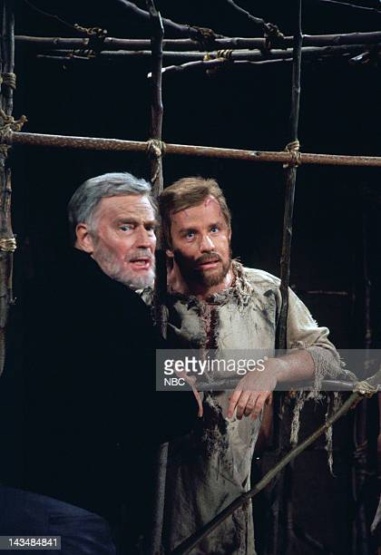 LIVE Episode 8 Air Date Pictured Charlton Heston Joe Dicso during the Planet of the Apes skit on December 8 1993