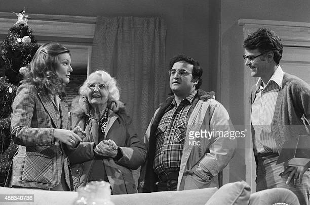 LIVE Episode 8 Aired Pictured Jane Curtin as mother Miskel Spillman as Sharon John Belushi as Jeff Dan Aykroyd as father during the 'Elderly...