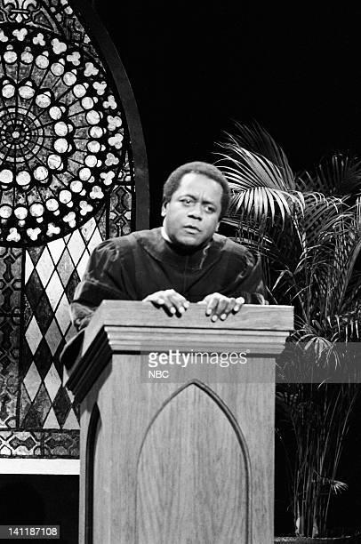 Flip Wilson as Reverend Leroy during the 'Reverend Leroy' skit on December 10 1983