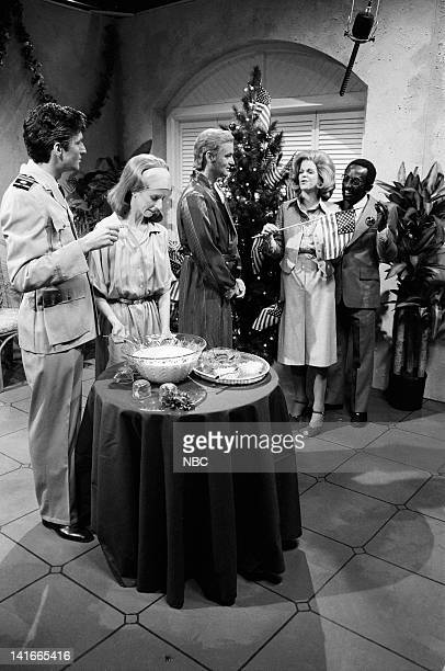 Laraine Newman as Farrah Pahlevi Bill Murray as Mohammad Reza Pahlevi Gilda Radner as Baba Wawa Garrett Morris as Anwar Sadat during the 'A Christmas...