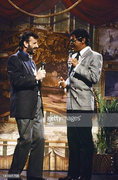 Ringo Starr Billy Crystal as Sammy Davis Jr during the monologue on December 8 1984 Photo by Alan Singer/NBC/NBCU Photo Bank