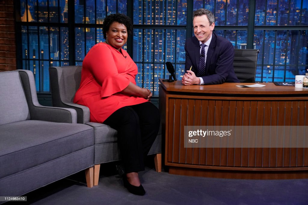 "NY: NBC'S ""Late Night With Seth Meyers"" With Guests John Mulaney, Stacey Abrams"