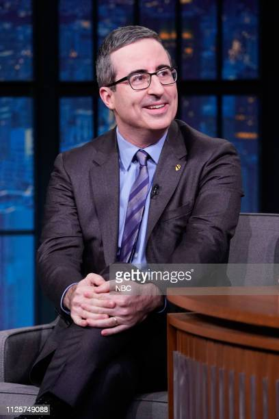 Talk show host John Oliver during an interview on February 18 2019