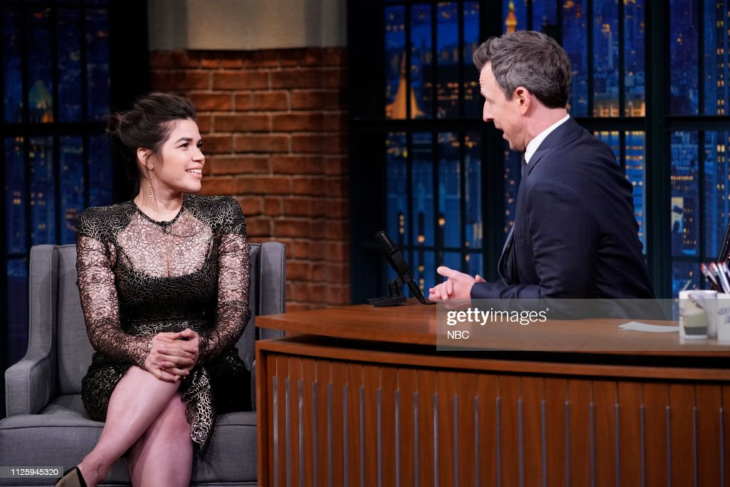"NY: NBC'S ""Late Night With Seth Meyers"" With Guests America Ferrera, Desus & Mero, Lauren Alaina (Band Sit In: Jeff Friedl)"