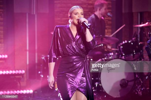 Musical guest Lauren Alaina performs on February 19 2019