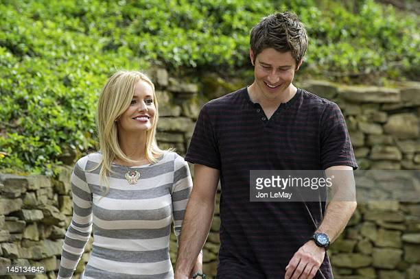 THE BACHELORETTE Episode 803 Emily surprises an ecstatic Arie with the last individual date of the week which begins with a private jet to Pigeon...