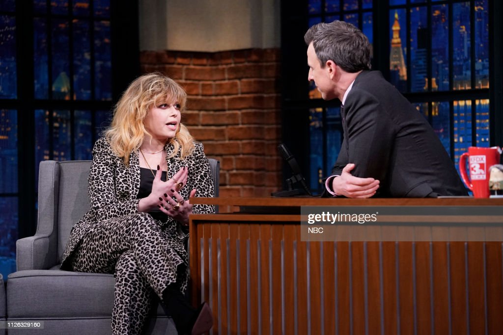 "NY: NBC'S ""Late Night With Seth Meyers"" With Guests Natasha Lyonne, Donny Deutsch, Drew Tarver & Heléne Yorke (Band Sit In: Jeff Friedl)"