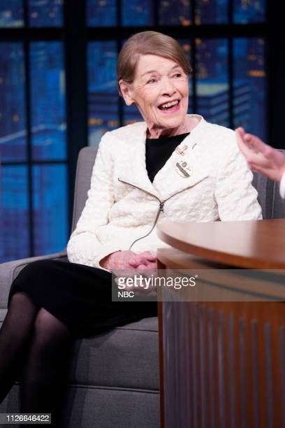 Brittish actress and former politician Glenda Jackson during an interview on February 21 2019