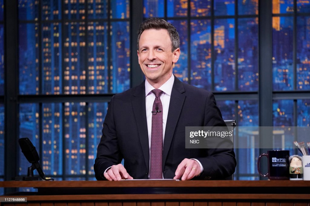 "NY: NBC'S ""Late Night With Seth Meyers"" With Guests Patton Oswalt, Heidi Gardner, Elle King (Band Sit In: Jon Epcar)"