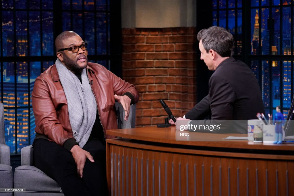 "NY: NBC'S ""Late Night With Seth Meyers"" With Guests Tyler Perry, Christina Hendricks, Astrid S (Band Sit In: Jon Epcar)"