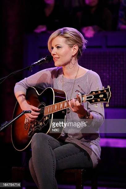 Musical guest Dido performs on March 27 2013