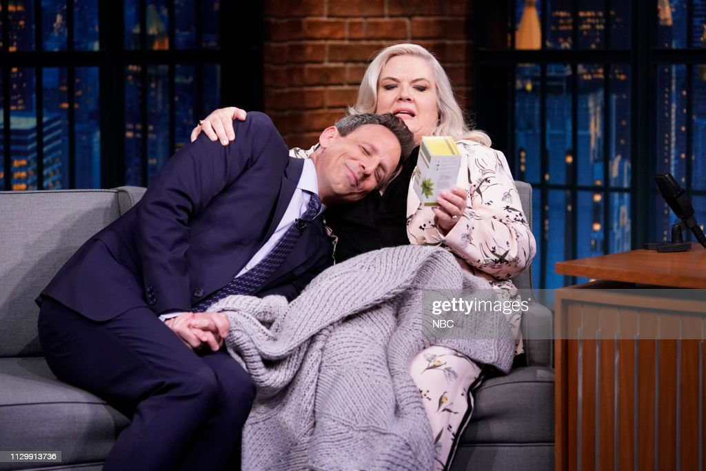 "NY: NBC'S ""Late Night With Seth Meyers"" With Guests Jesse Eisenberg, Paula Pell, DAN + SHAY (Band Sit In: Allison Miller)"