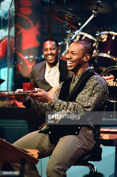 The Tonight Show Band's leader Kevin Eubanks on November 21 1995