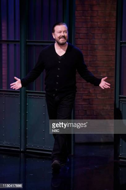 Actor/comedian Ricky Gervais arrives on March 13 2019