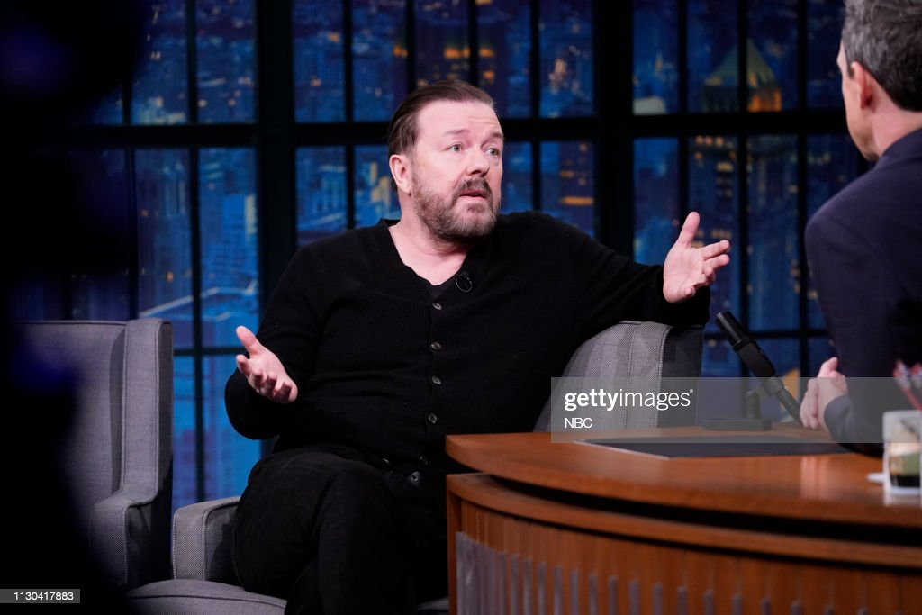 "NY: NBC'S ""Late Night With Seth Meyers"" with Guests Ricky Gervais, Asia Kate Dillon, JAMES BAY (Band Sit In: Allison Miller)"