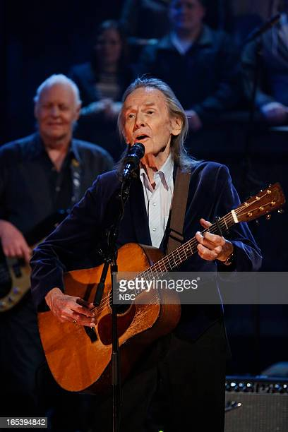 Musical guest Gordon Lightfoot performs on April 3 2013