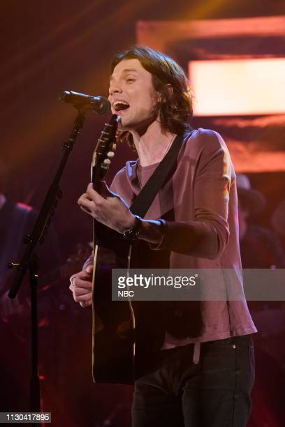 Musical guest James Bay on March 13 2019