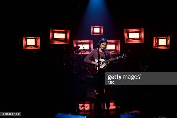 Musical guest James Bay performs on March 13 2019