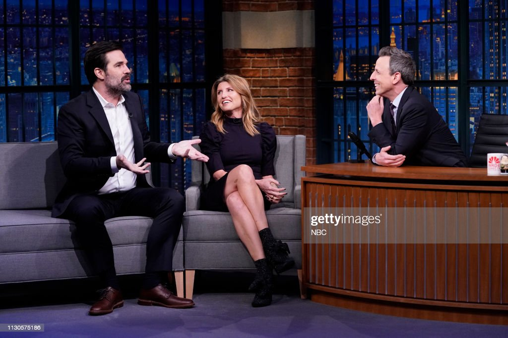 "NY: NBC'S ""Late Night With Seth Meyers"" With Guests Sharon Horgan & Rob Delaney, Stephanie Schriock (Band Sit In: Allison Miller)"