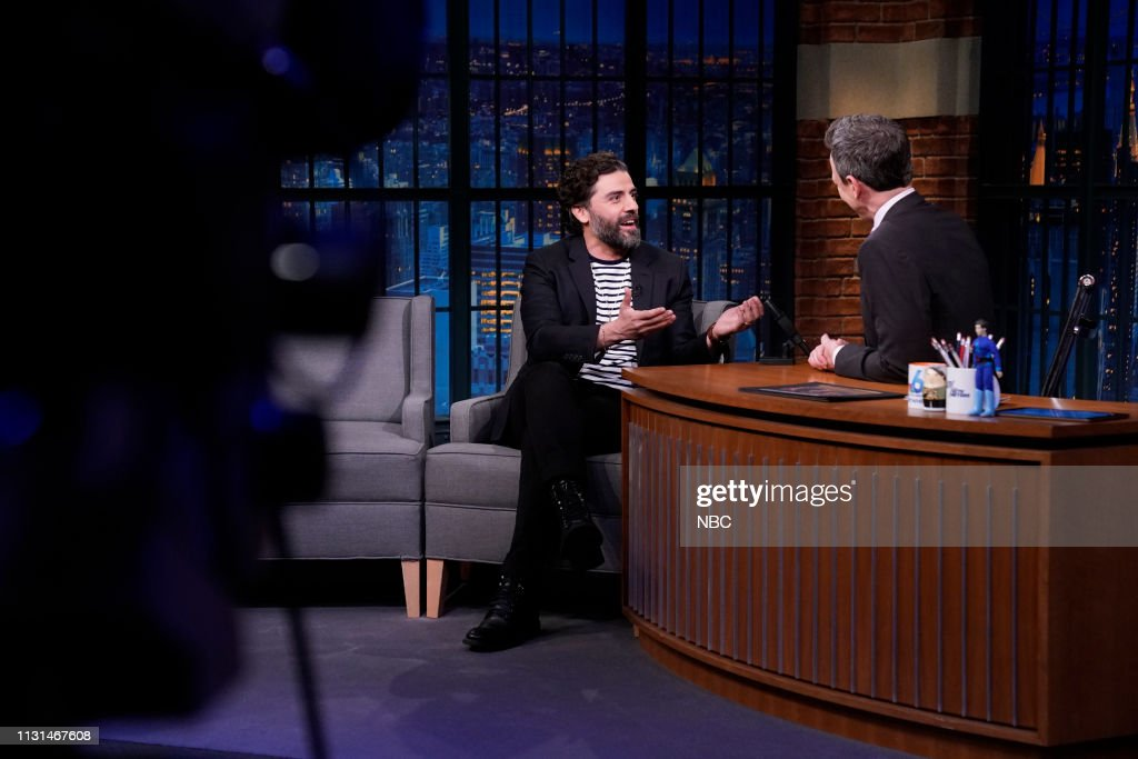 "NY: NBC'S ""Late Night With Seth Meyers"" With Guests Oscar Isaac, Winston Duke, Emily King"