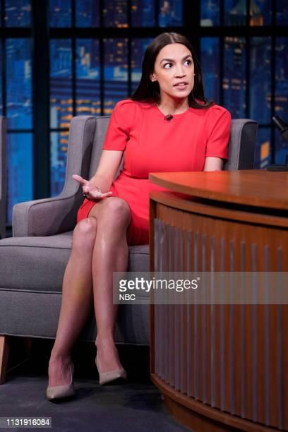 US Rep Alexandria OcasioCortez during an interview on March 21 2019