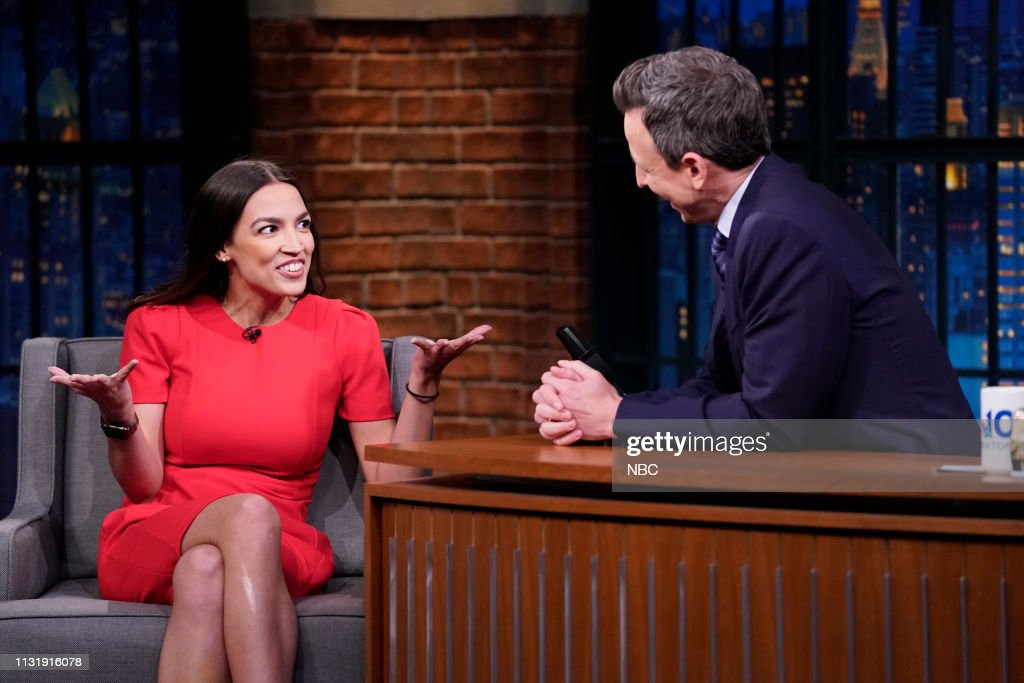 "NY: NBC'S ""Late Night With Seth Meyers"" With Guests Alexandria Ocasio-Cortez, Andrew Rannells, Carla Lalli Music"