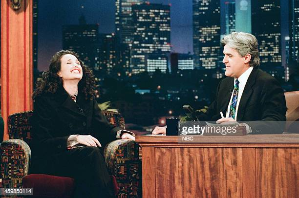 Actress Andie MacDowell during an interview with host Jay Leno on December 4 1995