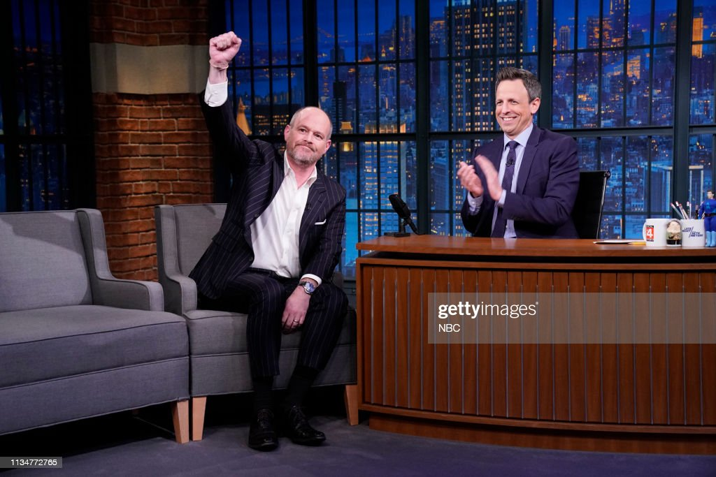 """NY: NBC'S """"Late Night With Seth Meyers"""" With Guests Chris Hayes, Rich Eisen, The Strumbellas (Band Sit In: Aaron Comess)"""