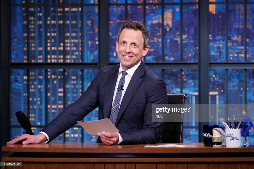 "NY: NBC'S ""Late Night With Seth Meyers"" With Guests Timothy Olyphant, Diane Von Furstenberg"