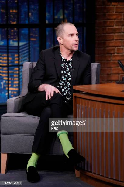 Episode 823 -- Pictured: Actor Sam Rockwell during an interview on April 10, 2019 --