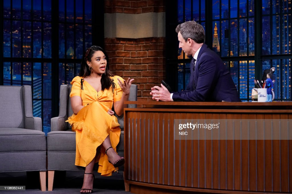 "NY: NBC'S ""Late Night With Seth Meyers"" With Guests Adam Drive, Regina Hall, Anthony Carrigan"