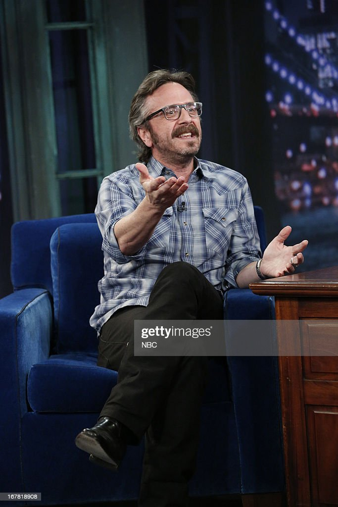 Comedian Mark Maron during an interview on April 30, 2013--