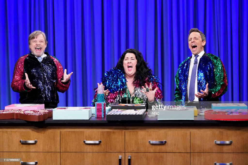 """NY: NBC'S """"Late Night With Seth Meyers"""" With Guests Julia Louis-Dreyfus, Mark Hamill, Ashley Longshore"""