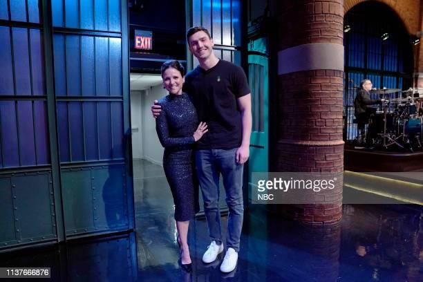 Actress Julia LouisDreyfus and son Charlie Hall on April 16 2019
