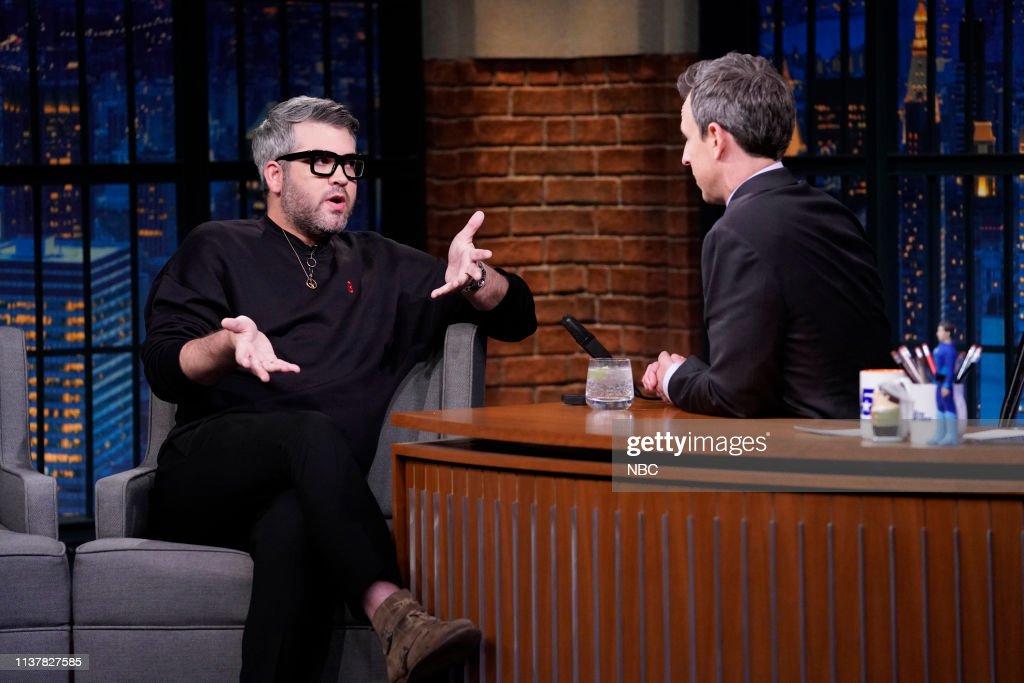 "NY: NBC'S ""Late Night With Seth Meyers"" With Guests Hank Azaria, Melissa Fumero, Brandon Maxwell"