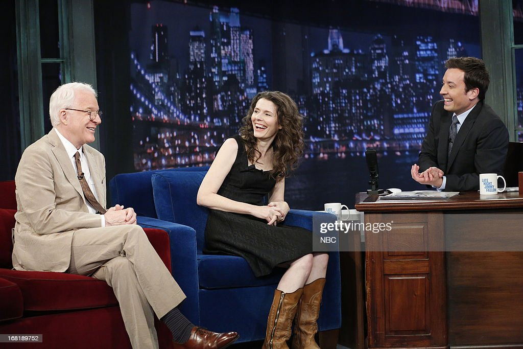Actor/comedian/musician Steve Martin, musician Edie Brickell and host Jimmy Fallon during an interview on May 6, 2013 --