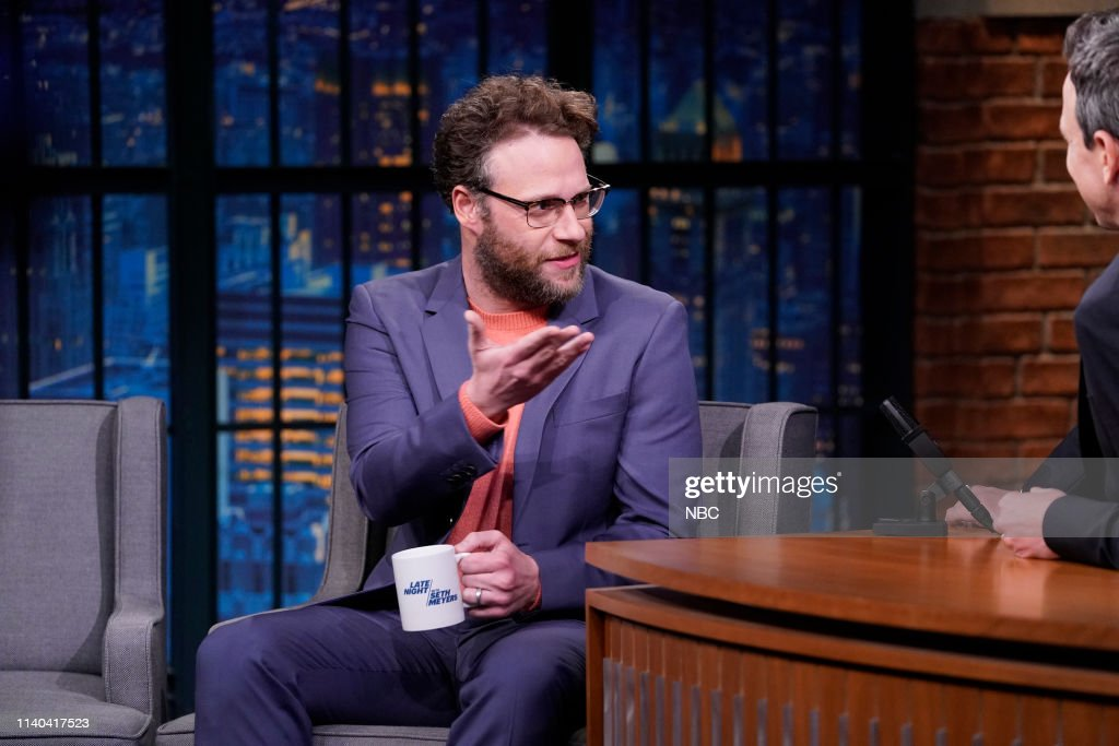 "NY: NBC's ""Late Night With Seth Meyers"" With Guests Seth Rogen, Jared Harris, Lyric Lewis (Band Sit In: Valerie Franco)"