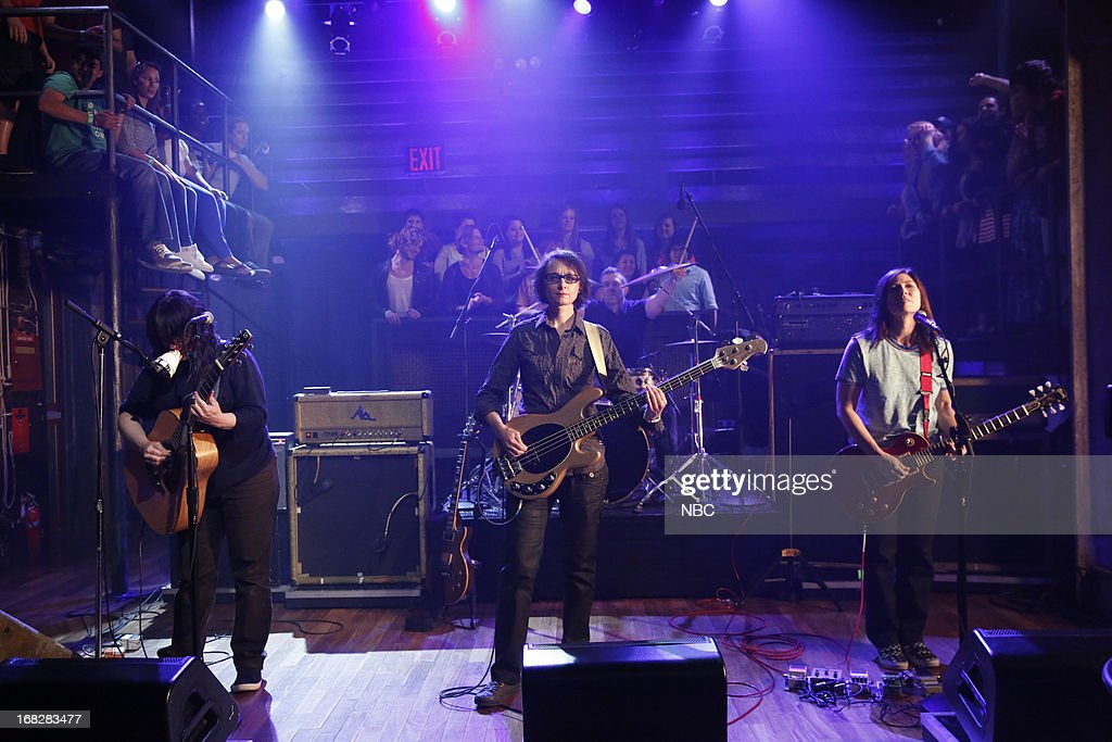 Musical guest Kim Deal, Josephine Wiggs, Jim Macpherson, Kelley Deal of The Breeders performs on May 7, 2013 --