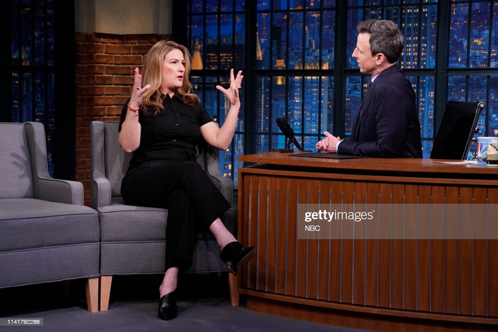 "NY: NBC'S ""Late Night With Seth Meyers"" With Guests Keri Russell, Ana Gasteyer, Alex Brightman (Band Sit In Phillip ""Fish"" Fisher)"