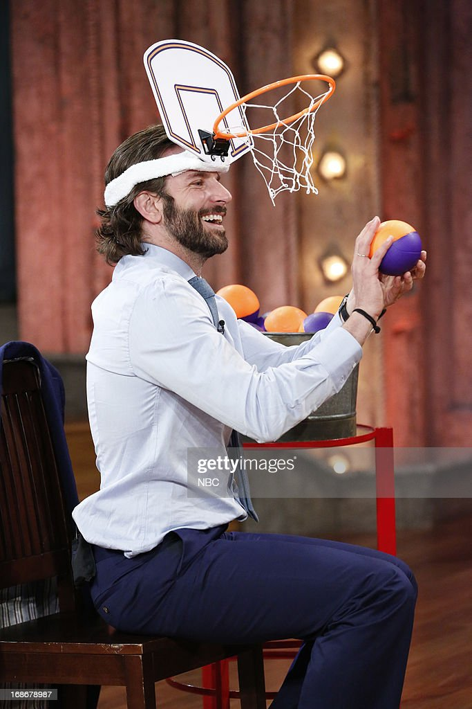 Bradley Cooper playing a game on May 13, 2013 -- (Photo by: Lloyd Bishop/NBC/NBCU Photo Bank via Getty Images..