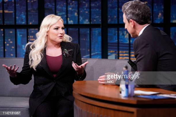 Meghan McCain during an interview with host Seth Meyers on May 7 2019