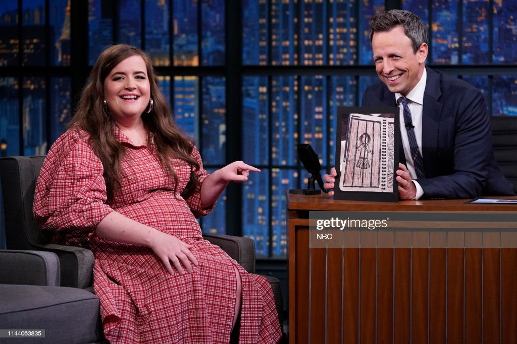 "NY: NBC'S ""Late Night With Seth Meyers"" With Guests Aidy Bryant, John Waters, Senator Michael Bennet (Band Sit In: Johnny Radelat)"