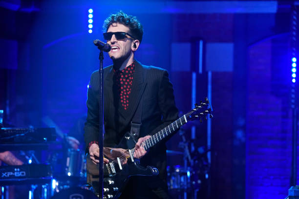 "NY: NBC'S ""Late Night With Seth Meyers"" With Guests Bryan Cranston, Eric Stonestreet, CHROMEO (Band Sit In: Sebastian Thomson)"